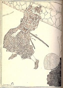 『苦楽』大正15年2月号 岩田専太郎による「武道一夕話」への挿絵.jpg
